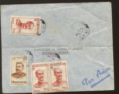 1949 Lettre Vers Belgique Général Gallieni Et Joffre - Madagascar (1889-1960)