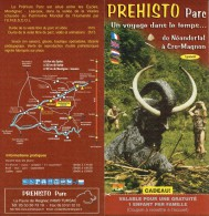 Ancien Dépliant Sur Le  Préhisto Parc De Tursac, De Néandertal à Cro-Magnon Vers 2002 - Dépliants Touristiques