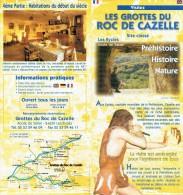 Ancien Dépliant Sur Les Grottes Du Roc De Cazelle, Les Eyzies De Tayac, Périgord, Vers 2002 - Dépliants Touristiques