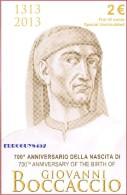 ITALIE - 2 € 2013 BU - GIOVANNI BOCCACCIO - STOCKVERKOOP !!!!!!!!!! - Italie