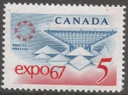 Canada. 1967 World Fair, Montreal. 5c MH. SG 611 - 1952-.... Reign Of Elizabeth II