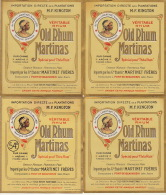 4 Etiquettes Old Rhum Martinas - Rhum