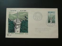 Telecommunications Tower Stamp Day 1956 FDC Saar 63365 - Télécom