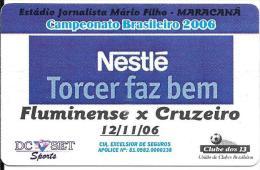 Brasilien: Football Campeonato Brsileiro 2006 - Fluminense X Cruzeiro - Advertisment Nestlé - Andere Sammlungen