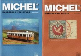 MICHEL Briefmarken Rundschau 1/2016 Sowie 1/2016-plus Neu 12€ New Stamps Of The World Catalogue And Magacine Of Germany - Deutsch