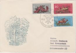 DDR; 2 FDC 1959 - WILDLIFE - [6] República Democrática