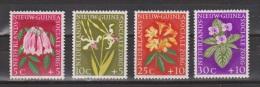 Nederlands Nieuw Guinea Dutch New Guinea 57 - 60 MLH ; Bloemen, Flowers, Fleurs, Flores, 1959 - Netherlands New Guinea