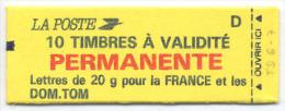 CARNET MARIANNE BRIAT N° Y&T 2806-C1 ; SPINK- MAURY N°498   + TD 6-7 EN MARGE - Usage Courant