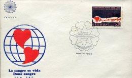 4602 Uruguay  Fdc 1973  Blooddonors,  Blood Is Life, Donneur De Sang,  Donatori Sangue - Medizin