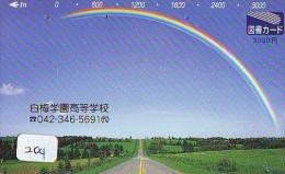 ARC EN CIEL - RAINBOW - Regenboog - Regenbogen Phonecard Telefonkarte (204) - Astronomy