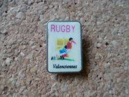 Pin´s ** Rugby - Valenciennes  ** Club De Rugby - Rugby