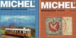 MICHEL Briefmarken Rundschau 1/2016 Sowie 1/2016-plus Neu 12€ New Stamps Of The World Catalogue And Magacine Of Germany - Pin's & Anstecknadeln