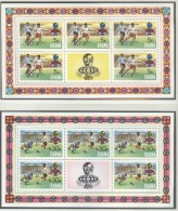 GHANA Perforated Set In 4 Sheets Of 5 With Vignet Mint Without Hinge - Coppa Del Mondo
