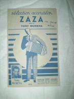 """PARTITION """"ZAZA""""  TONY MURENA - Partitions Musicales Anciennes"""