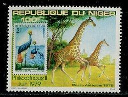 (cl.12 - P.25) Niger ** PA N° 283 (ref. Michel Au Dos) - Philexafrique.  Girafes - Girafes