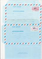 AEROGRAMMES N° 1008 ET 1012 - CONCORDE - ANNEE 1982 ET 1984