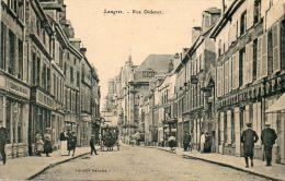 CPA- LANGRES (52) - Aspect De La Rue Diderot Et Du Grand-Hôtel De L'Europe Au Début Du Siècle - Langres
