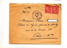 Lettre  Cachet Chatellerault Sur Semeuse - Storia Postale