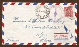Cachet Violet - GROUPEMENT DES COMMANDOS PARACHUTISTES DE L.A.E.F. - BRAZZAVILLE A.E.F 1952 - Marcophilie (Lettres)