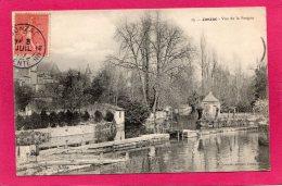 17 CHARENTE-MARITIME JONZAC, Vue De La Seugne, Animée, éclusier, 1907, (A. Laroche, Jonzac) - Jonzac