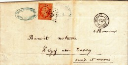 CHATEAU THIERRY LIZY SUR OURCQ - 1867 - GC 926 - LSC N° 23 - Marcophilie (Lettres)