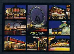 (A046) AK Wien - Prater Bei Nacht - Mehrbildkarte - Prater