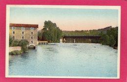 87 HAUTE-VIENNE ST-JUNIEN, Le Pont de Fer et Minoterie sur la Vienne, 1960, Moulin � eau, (Combier, Macon)