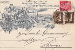 10277-DITTA PAOLO ACCARDI VINCI-VINI MARSALA-VERMOUTH-MARSALA(TRAPANI)-1931-FP - Pubblicitari