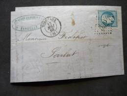 Bordeaux  GC 532 13/05/1865 - Marcophilie (Lettres)