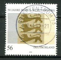 """Germany,Allemagne  2002 Mi. Nr.2248 """"50 Jahre Baden-Württemberg,Wappen """"1 Wert Used - Francobolli"""