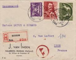 Lettre Recommandé CaD Bussum Pour La France 1944