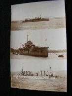 Cpa  Carte Photo 3 Navires De Guerre ( Au Large D' Alger ?)  FEV16 10ter - Guerre