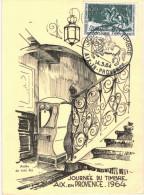 BOURSE SALON DU TIMBRE ... AIX EN PROVENCE 1964 - Bourses & Salons De Collections