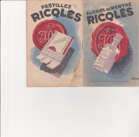 CARNET DE NOTES PUBLICITAIRE - ALCOOL DE MENTHE RICQLES - - Advertising