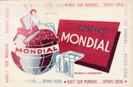 "Matelas  "" Mondial""  - Format  20,5 X 13,5 - Blotters"