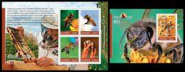 UGANDA 2014 - Bees. Domestic Animals - YT 2626-9 + BF433; CV = 20 € - Bienen