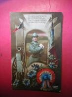 CPA PHOTO MILITARIA  PATRIOTIQUE   MILITAIRE / SOLDAT CLASSE 1918  FURIA 1751 / 4  EN AVANT POUR LA GLOIRE    VOYAGEE - Patriottisch