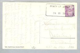 Heimat VD Peney Le Jorat 1933-08-24 Aushilfs-O Auf AK - Suisse