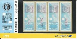 4 VIGNETTES D'AFFRANCHISSEMENT VENDUES SOUS PLAQUETTES PTT - 1981-84 LS & LSA Prototypes