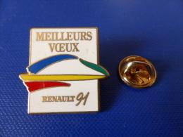 Pin's Arthus Bertrand - Renault Meilleurs Voeux 91 (AD38) - Arthus Bertrand