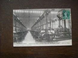 Carte Postale Ancienne De La Ferté-Macé:  Industrie Fertoise, Tissage Retour Frères- Timbre-taxe - La Ferte Mace