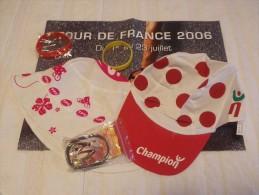 Publicité. Casquette Champion + Bob TPS - Tour De France 2006 + Bracelets Le Faillitaire, Visitlondon, Eurotype (neuf) - Caps