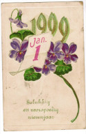 Gelukkig Nieuwjaar 1909, Carte Gaufrée, Reliëf, Happy New Year (pk27566) - Neujahr