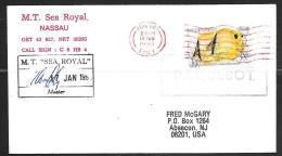 1990 Paquebot Cover, Bahamas Fish Stamp Used In Romford United Kingdom - Bahamas (1973-...)