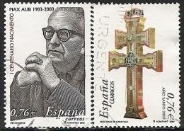 2003-ED. 3992 Y 4013 -2 SERIES COMPLETAS-MAX AUB. ESCRITOR Y AÑO JUBILAR CRUZ DE CARAVACA-USADO - 1931-Hoy: 2ª República - ... Juan Carlos I