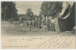 Ziguenar Lager 2  Camp Tzigane Roms Gypsies Camp Edit Arvid Carlson Sodertelge No 825 Mark Moeleven 1903 - Suecia