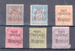 MADAGASCAR : 6 EXEMPLAIRES . * ET OBL . AB A B . 1895 . ( COTE 500 € , YVERT ) . - Madagascar (1889-1960)