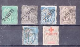 TAHITI : 6 EXEMPLAIRES . * ET OBL . TB . 1893/15 .