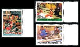 POLYNESIE 1986 - Yv. 263 264 265 ** TB Bdf  Cote= 1,70 EUR - Folklore (3 Val.) ..Réf.POL22390 - Französisch-Polynesien