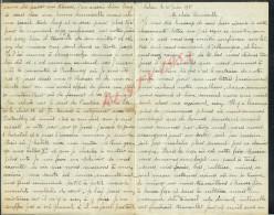 MILITARIA : LETTRE DE SALVAN ( SUISSE ) DE 1918 POILU MAURICE MARIOTTE 8e CH � PIED INTERN� HOTEL MON REPOS � SALVAN :